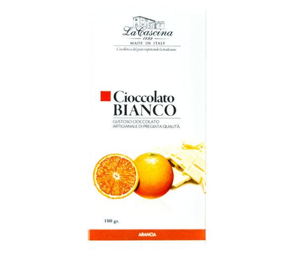 Cioccolato bianco gusto arancia