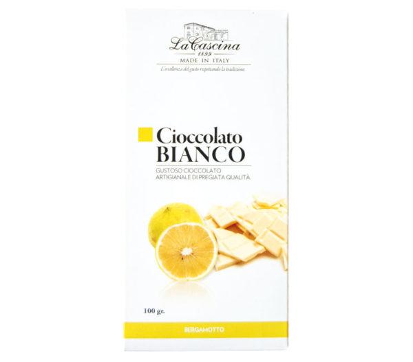 Cioccolato bianco gusto bergamotto