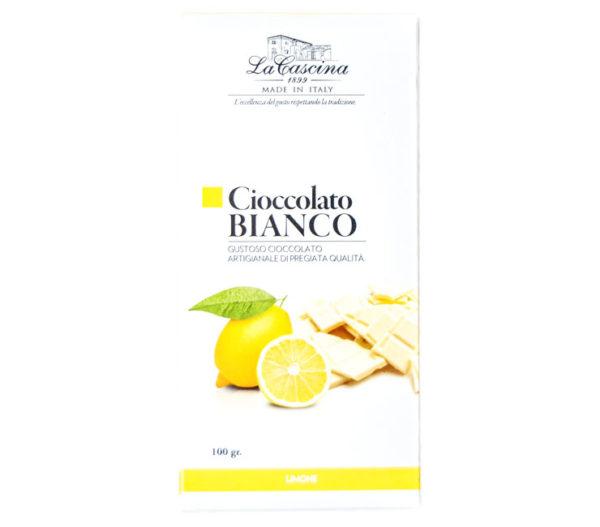 Cioccolato bianco gusto limone
